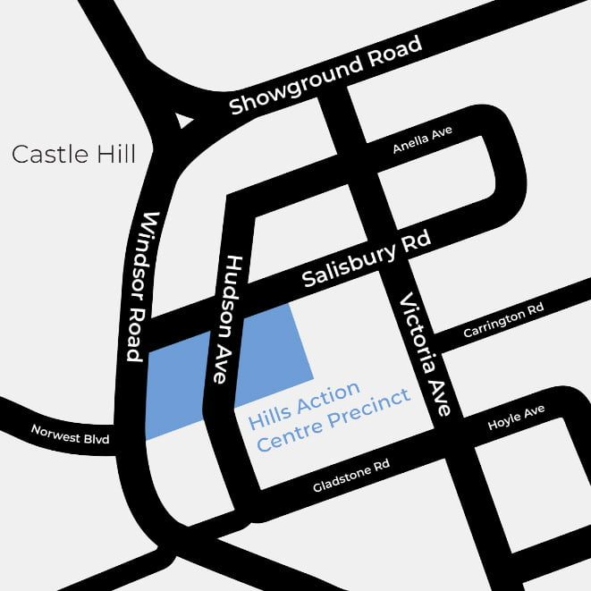 Hills Action Centre Map